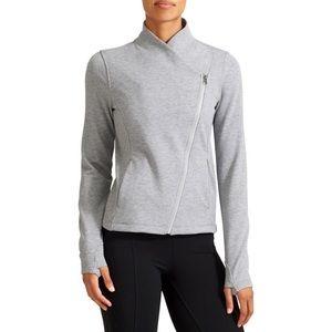 Athlete Softtech Moto Jacket Sz m light grey